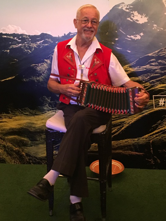 He also showed us up with his accordion skillz.