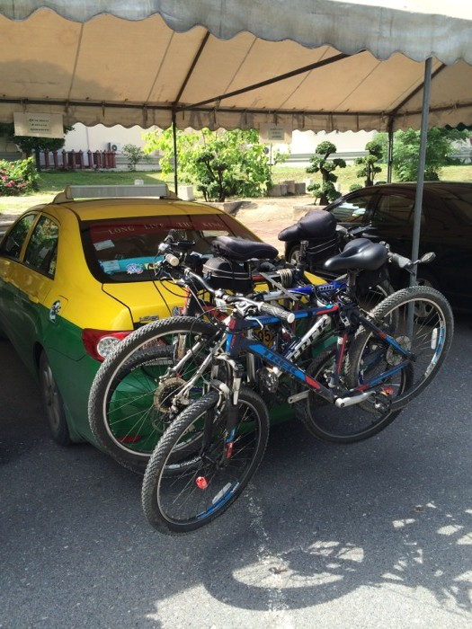 Our bikes loaded up and ready to go.