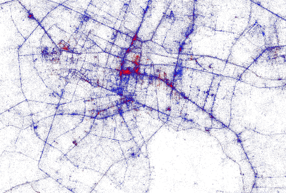 Tourists vs Locals Mapping Where People Tweet in Bangkok Greg – Maps Of Bangkok For Tourists